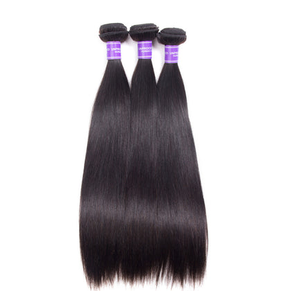 3pcs straight 10 to 30inch brazilian full stock human hair extensions