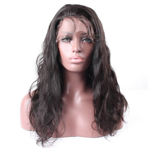 Brazilian Glueless Lace Front Human Hair Wigs Body Wave With Baby Hair