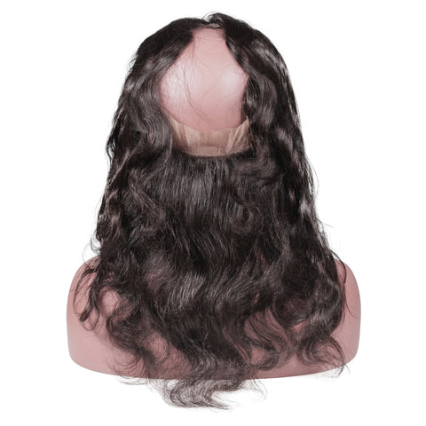 Brazilian 360 Full Lace Preplucked Frontal With 3 Bundles Body Wave