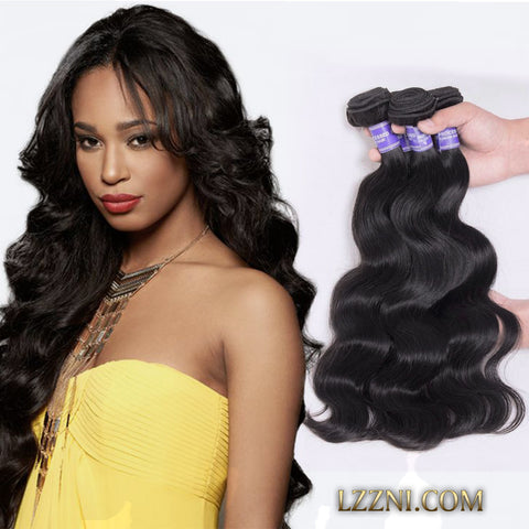 3 pcs 300g brazilian hair body wave style human weave