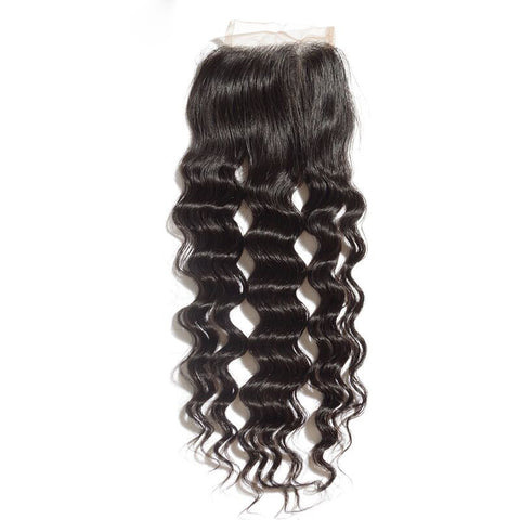 Lace Closure 4X4 Unprocessed Human Hair Loose Wave