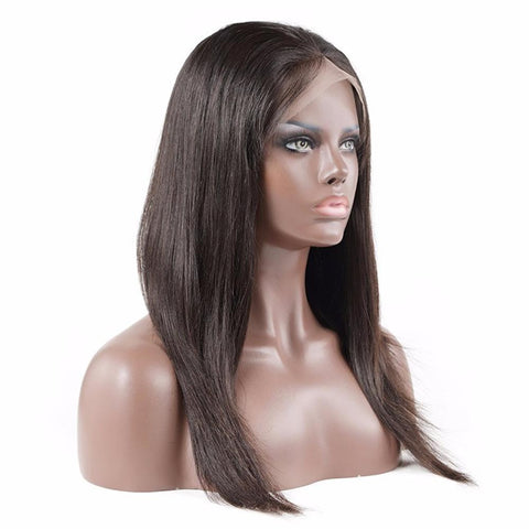 Brazilian Glueless Lace Front Human Hair Wigs Straight Hair With Baby Hair