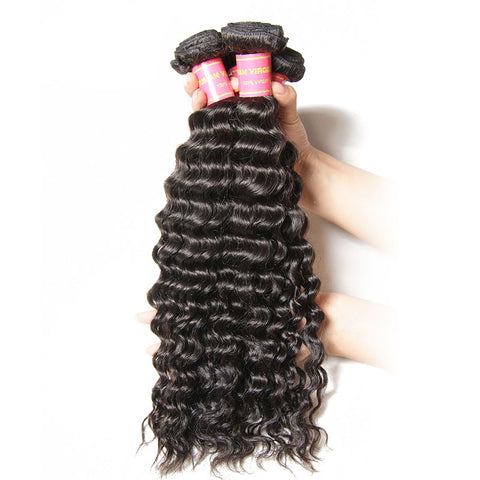 3pcs peruvian deep wave curly virgin hair human hair weaves