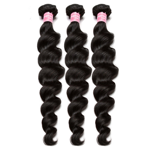 3pcs indian human hair loose wave virgin hair extensions