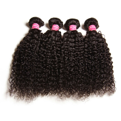 4pcs peruvian unprocessed human hair extentions kinky curly
