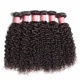 4pcs indian unprocessed human hair extentions kinky curly