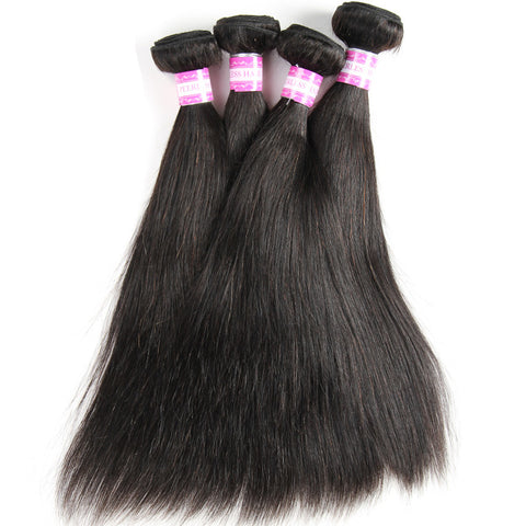 unprocessed indian human hair extension 4pcs straight hair