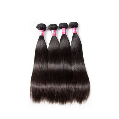 5pcs peruvian virgin human hair straight hair bundles
