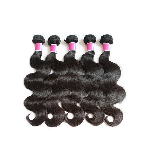 5pcs peruvian virgin human hair body wave bundles
