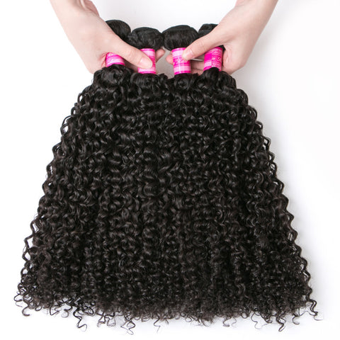 unprocessed virgin human hair indian hair kinky curly 5pcs