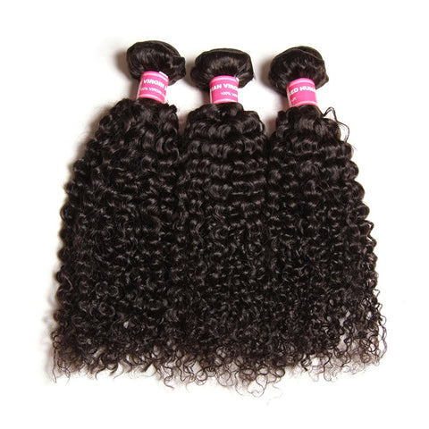3pcs afro kinky curly malaysian human hair can be dyed