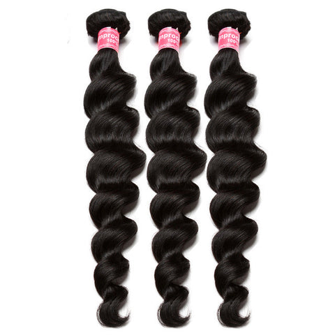 3pcs unprocessed virgin human wavy malaysian loose wave