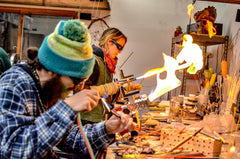 Gina Gaffner handmade glass blowing in vail colorado