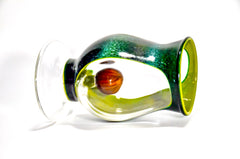 glass by boots x drinking vessels collaboration handmade glass cup avocado