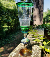 BBQ Hand Made Glass Goblet
