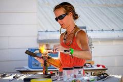 gina glass by boots live glassblowing
