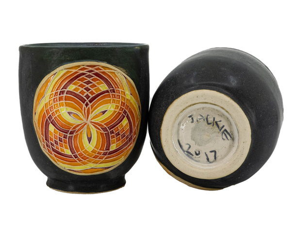Black Fire Fillacello Tumblers (Pair)