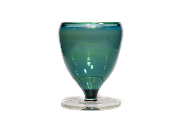 Fumed Teal Goblet