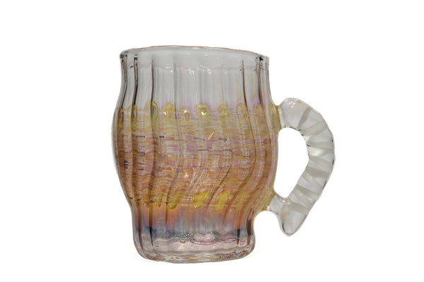 Golden Fumed White Handle Mug