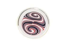 Red Reverse Swirl Q Cup