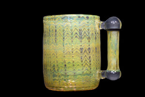 M.A. Opal Handle Fumed Wrap & Rake Mug