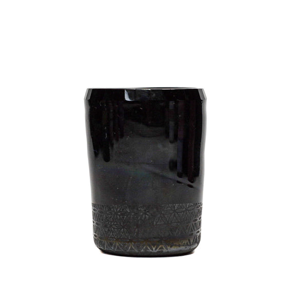 Flower Of Life Tektite Faceted Shot Glass