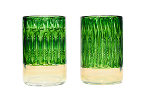 Emerald Wrap and Rake Tumblers (Pair)