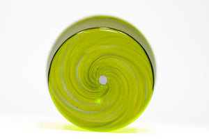 Gold Adventurine and Lime Green Tumbler