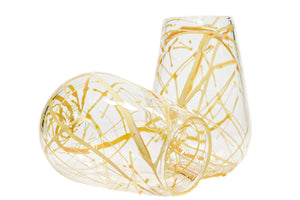 Cream Splatter Wine Glass (Pair)