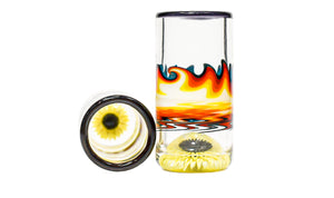 Fire and Ice Sunflower Shot Glass (Pair)
