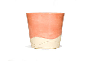 Orange Sherbet Wave Clay Slip Cast Stackable