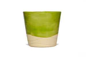Green Wave Clay Slip Cast Stackable
