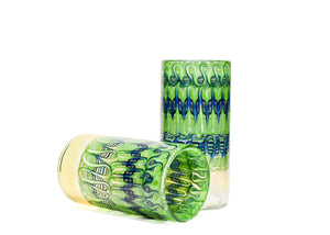 Light Green and Blue Wrap and Rake Tall Boi (Pair)