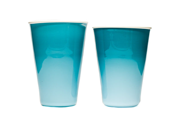 Teal Soft Glass Solo Cups (Pair)