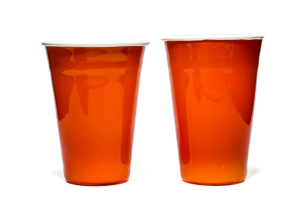 Orange Soft Glass Solo Cup (Pair)