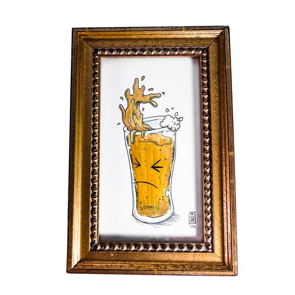 Framed Same Cup Life Illustration