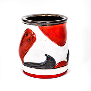 Sneaker Cup (White & Red)