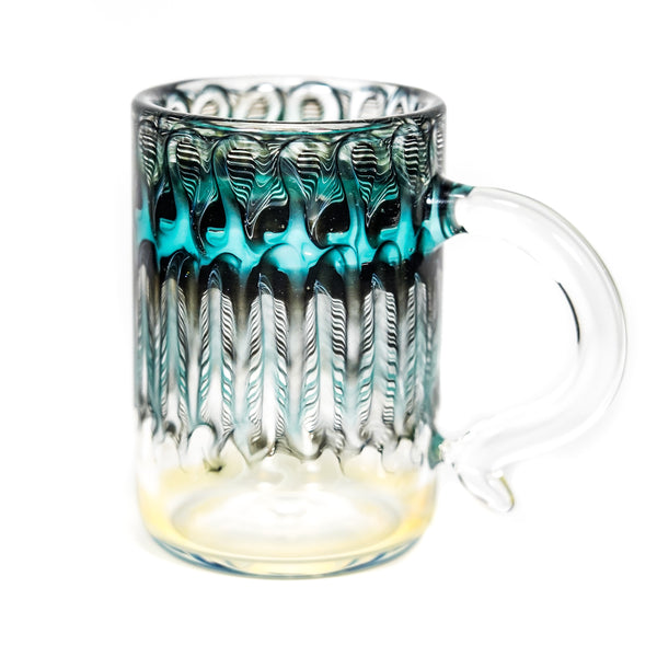 Fumed Wrap & Rake Mug (Teal/Black)