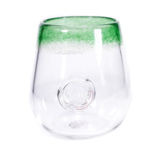 Green Brain Stamp Stemless Wine (Pair)