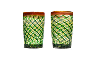 Green Retticello Shot Glass (Pair)