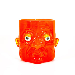 Electric Orange Face Mug