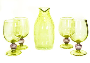 Bubble Trap Decanter & Goblet Set