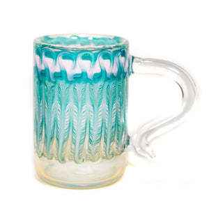 Fumed Wrap & Rake Mug (Pink/Teal)