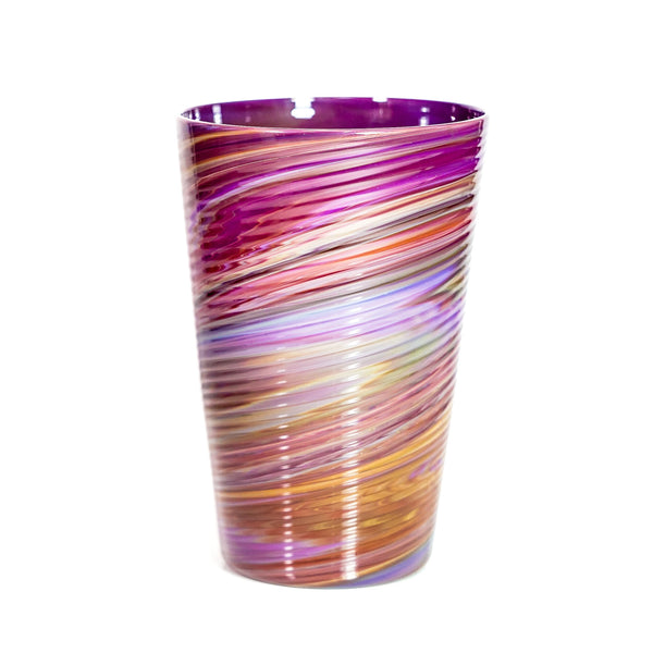 Ribbed Amber Purple Pint Again