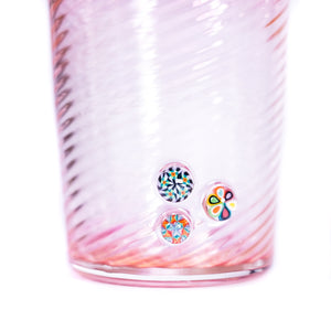 Fumed Tumblers w/ Millies (Pair)