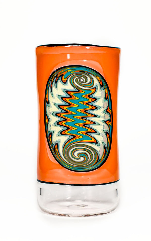 Orange Wigwag Window Tumbler