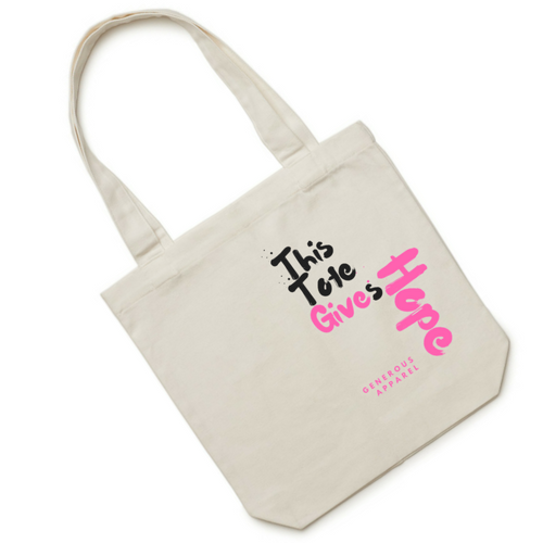 THIS TOTE GIVES HOPE - Pink Right