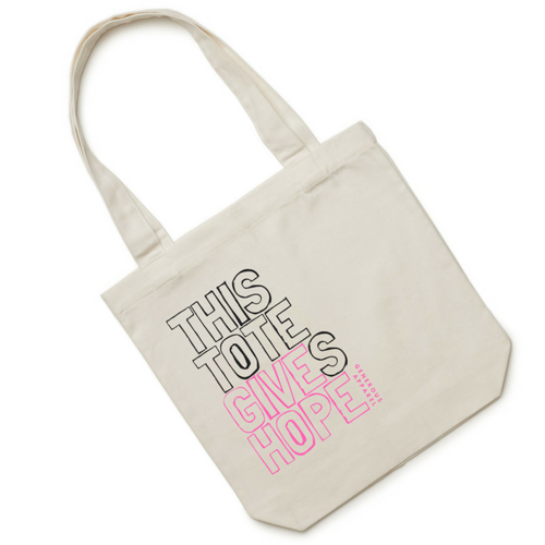 THIS TOTE GIVES HOPE - Pink Outline