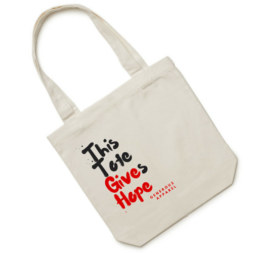 THIS TOTE GIVES HOPE - Red