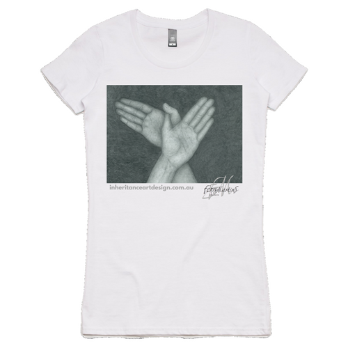 Hands Women's Shirt - White